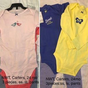 2sets, NWT, Carters outfits...9 pieces total